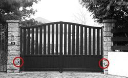 motorisations du portail aluminium portail alu motoris portail motorisable. Black Bedroom Furniture Sets. Home Design Ideas