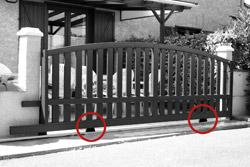 motorisations du portail aluminium portail alu motoris. Black Bedroom Furniture Sets. Home Design Ideas